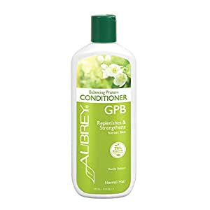 Aubrey GPB Balancing Protein Conditioner | Replenishes, Strengthens & Nourishes Damaged Hair | Aloe & Shea Butter | 75% Organic Ingredients | 11oz