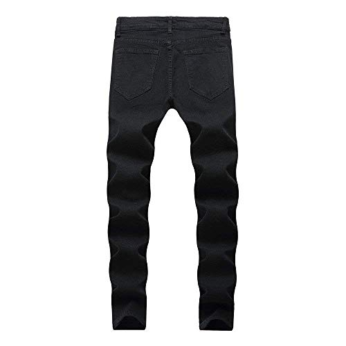 Da Summer Destroyed Con Chern Fori Black Streetwear Nero A Jeans Stretch Slim Pantaloni Skinny Jogging Comodo Fit Uomo Pants Zip zBx0q7d