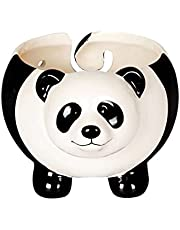 YLSZHY Cute Panda Ceramic Yarn Bowl, Portable Knitting Wool Storage Bowl with Holes, Beautiful Gifts for Moms, Grandmothers, Knitting Lover