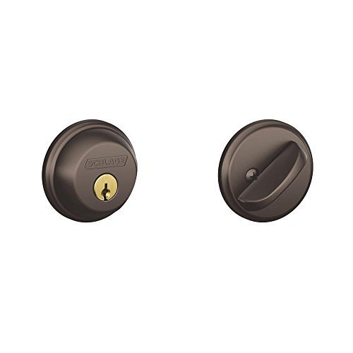 Single Cylinder Deadbolt in Oil Rubbed Bronze - B60N 613 by Schlage Lock Company