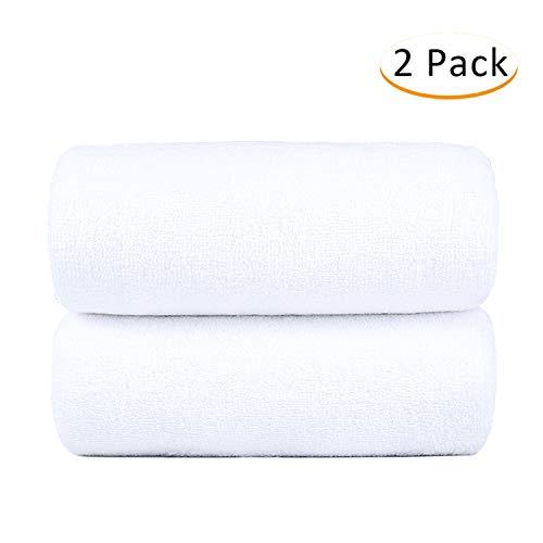 Monarca Cotton Bath Towel 2 Pack, Oversized 30″ x 60″ Towel Set, 600GSM, Luxury Hotel & SPA Towel, White