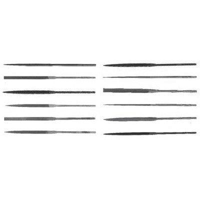 X.F Swiss Pattern Three-Square Needle Files - 6-1/4'' rhn-2 three square needle file [Set of 12]
