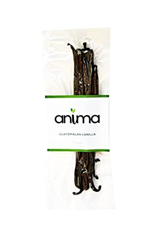 Pure Organic Grade A Vanilla Beans Prime Gourmet Guatemala Food Products 5-6 inches 10 bean pack - Tahitian Whole Bean Coffee