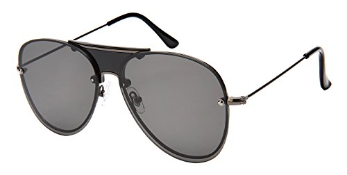 Edge I-Wear Men's Modern Aviators w/Solid Color Lens - Couture Sunglasses Haute