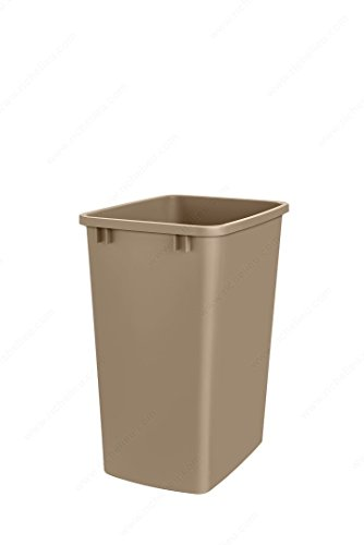 52 Qt  Replacement Waste Bin For Cabinet Recycling Pull Out Trash Organizer  Champagne
