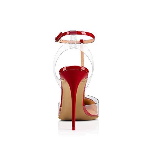 Top oro punta donna 41 tacco maniche alto a rosso con senza 8fn8r