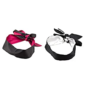 Soft Stain Blindfold Sex Mask For Role Play Sleeping Eyemask Pack of 2 Black