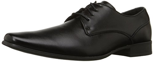 Calvin Klein Men's Brodie Oxford Shoe, Black Burnished Dress Calf, 9 M US