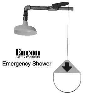 Emergency shower - Vertical pipe mount