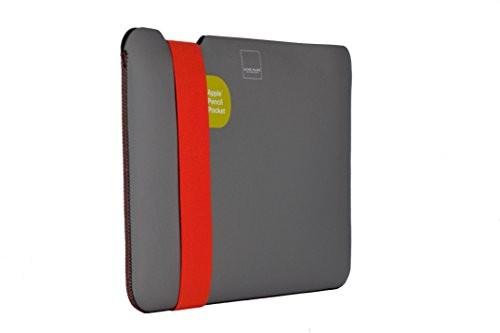 "Acme Made Skinny Sleeve Ultra-Thin Padded Case with Stylus Pocket for 11""-12""-13"" Laptops and Tablets StretchShell Neoprene (Small) (Grey/Orange) AM10121"