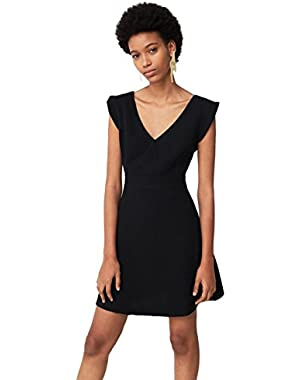 Mango Women's Back Vent Dress