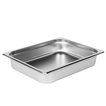 Excellante Half Size 2-1/2-Inch Deep 22 Gauge Anti Jam Pans