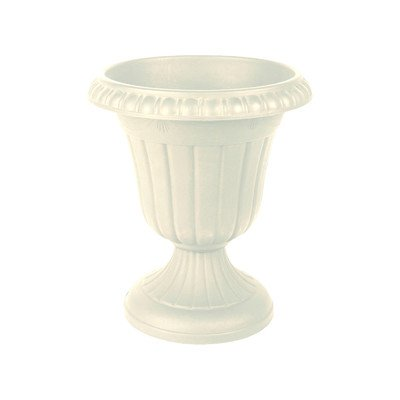 Traditional Plastic Urn Color: Black, Size: 10'' x 12''