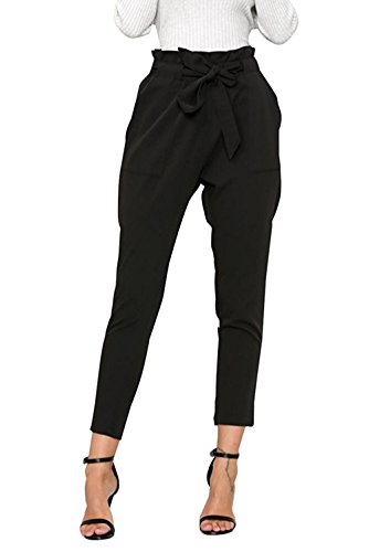 Big Leg Women (Tueenhuge Women Slim Pants Casual Straight Leg Stretch High Waist Long Pants with Pockets)