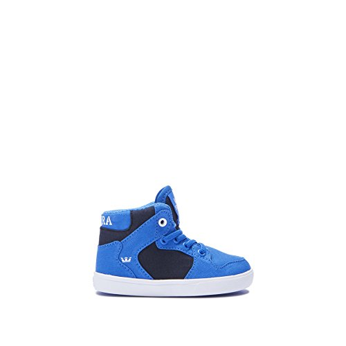 Supra Kids Baby Boy's Vaider (Toddler) Blue/Black/White Shoe (Supra Infant)