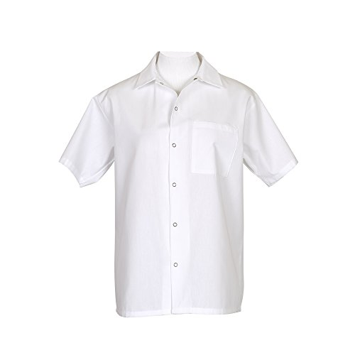 Fame-Short-Sleeve-Cook-Shirt-Small-White