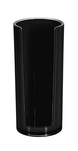 Spirella 10.17764 Sydney-Acryl, Wattepad-Spender, schwarz