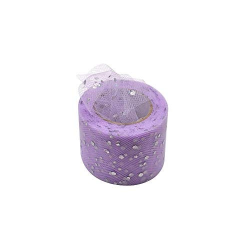 25 Yards 5cm Glitter Sequin Tulle Roll Spool Tutu Skirt Fabric Wedding Decoration Crafts Birthday Party Supply,C24 ()