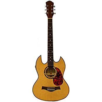 thin line sg acoustic electric double cutaway guitar musical instruments. Black Bedroom Furniture Sets. Home Design Ideas