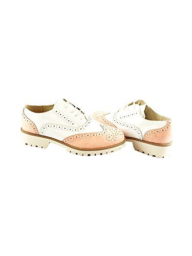 up Women Shoes Liyu Light 10 Brogue 6 Pink Oxford Toe Adult Contrast Lace n6n1p0Z