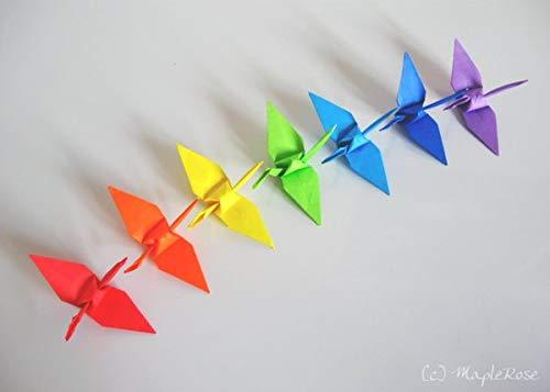 Amazon Handmade Origami Cranes 6x6 Paper In Rainbow Colors