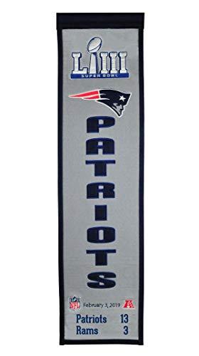 Winning Streak NFL New England Patriots Unisex Super Bowl 53 New England Patriots Heritage BannerSuper Bowl 53 New England Patriots Heritage Banner, Navy, Banner ()