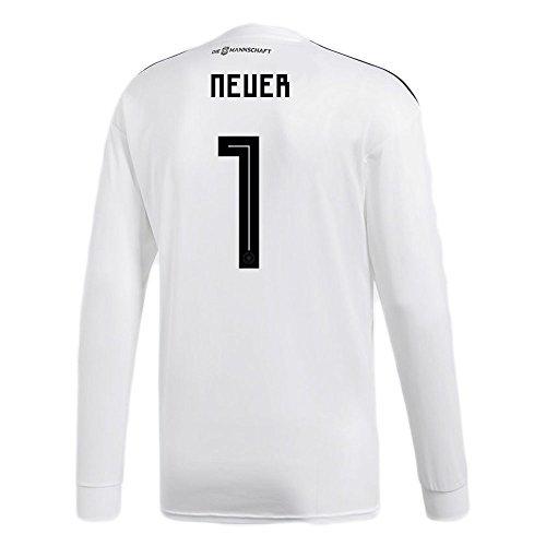 頭蓋骨疑い恐ろしいですadidas NEUER # 1 Germany Home Soccer Long Sleeve Stadium Jersey World Cup Russia 2018/サッカーユニフォーム ドイツ ホーム用 ノイアー # 1 長袖