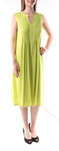 - Jones NY $232 Womens New 1232 Green V Neck Sleeveless Midi Shift Dress M B+B