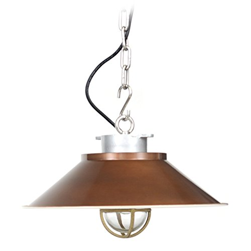 Cocoweb Devonport LED Nautical Pendant Light with Cage - AM-Q248-VB(Brass)