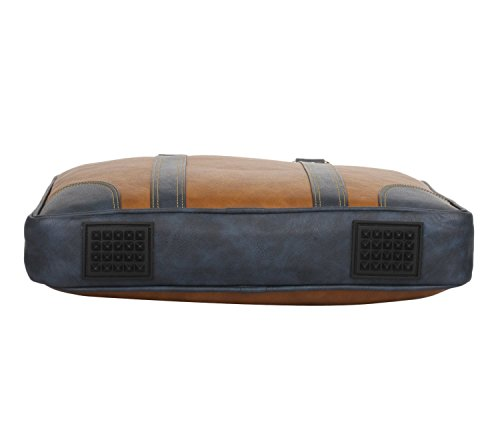 K London Leatherite Handmade Tan Unisex Bag Cross Over Shoulder Messenger Bag with Laptop Compartment (1803_tan)