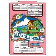 Bless Our Home 2011 Jeweled Felt 16x24 Calendar - Bucilla Jeweled Calendars Felt