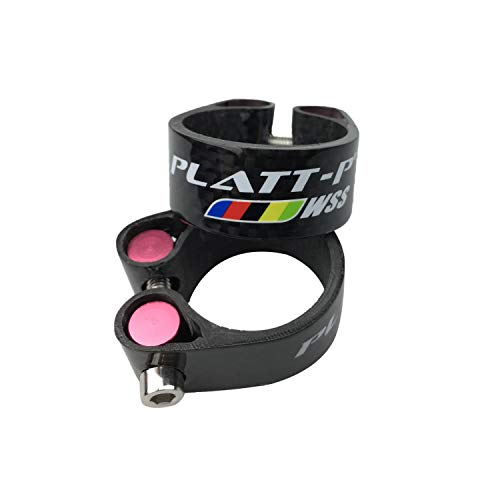 Carbon Clamp (Platt Bike Seat Post Clamp Carbon Fiber MTB/Road Bike Seat Post Clamps Fit for 27.2/30.8/31.6mm Bicycle Seat Post)