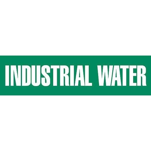 GHS Safety PM1187VA, Adhesive Vinyl Pipe Marker,''Industrial Water'', Pack of 500 pcs
