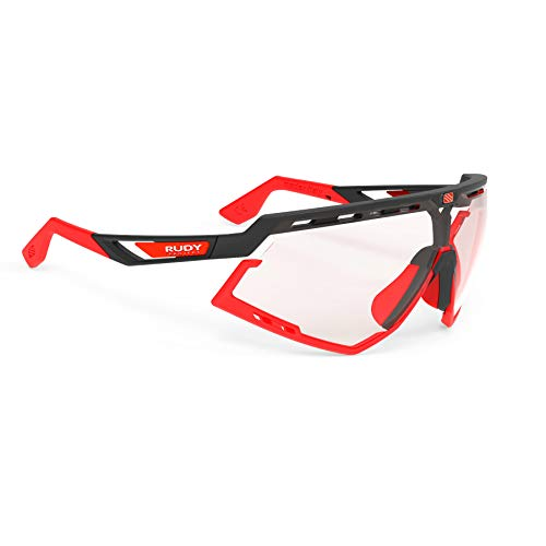 Rudy Project Photochromic - Rudy Project Defender Sports Cycling Sunglasses - Matte Black Frame - ImpactX-2 Photochromic Clear to Red Lenses