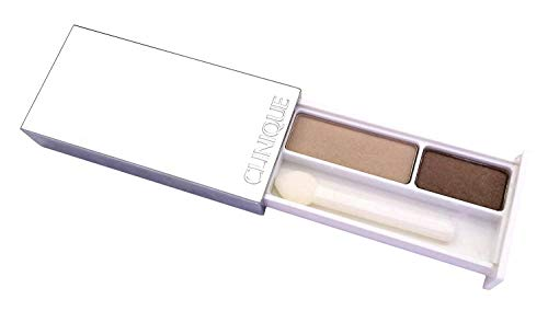 Clinique All About Eye Shadow Duo -Travel Size 0.04 Ounce,  Like Mink ()
