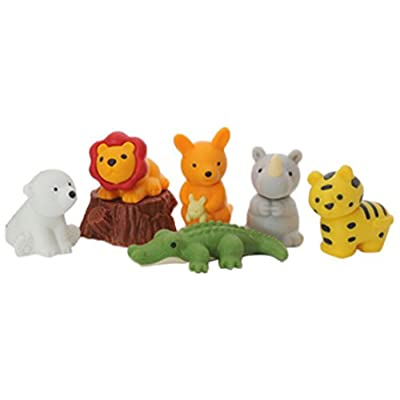 Iwako Japanese Safari Eraser Set: Toys & Games