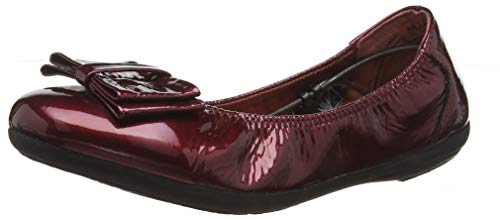 Donna Shoes Red Rosso cow Ballerine Marc 00837 Patent Janine p1tqw77Z