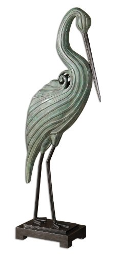 Uttermost Keanu Heron Sculpture in Blue-Green