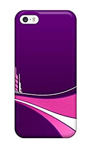 Snap-on Case Designed For Iphone 5/5s- Futuristic Purple Pink