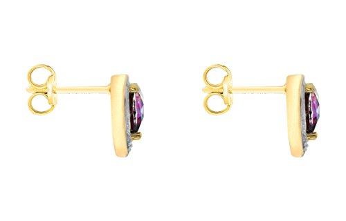 Carissima Gold - 1.58.262T - Boucles d'oreille Femme - Or jaune (9 cts) 0.99 Gr - Topaze Mystique