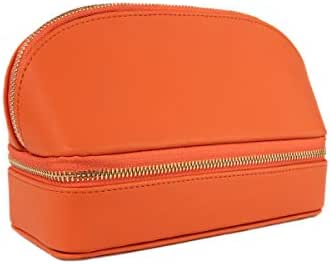 Brouk and Co. Duo Travel Organizer for Cosmetics and Jewelry, Orange