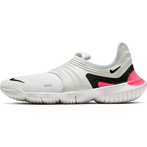 new products 71417 07057 Nike Women s Free RN Flyknit 3.0 Running Shoes (8.5M, White Blue Pink)