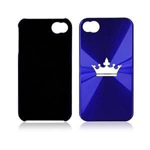 Dark Blue Apple iPhone 4 4S A55 Aluminum Hard Back Case Crown by ruishername