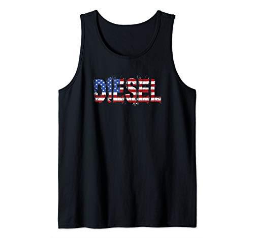 - Diesel American Flag Power 4X4 Trucks Roll Coal Tank Top