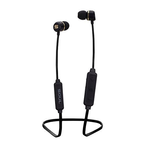 Soul Electronics Prime Wireless High Performance Earphones with Bluetooth (Black) Fashion Lifestyle Earbuds - Magnetic Clip - 6 Hours Playtime - Interchangeable Ear Tips - Ergonomic Design - w/Mic]()