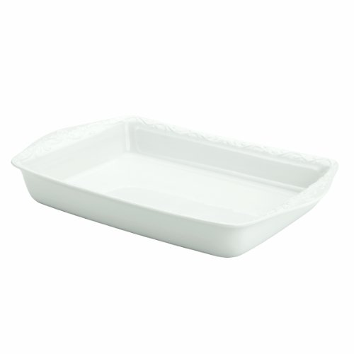 Lenox Opal Innocence Carved 13-Inch Rectangular Baker