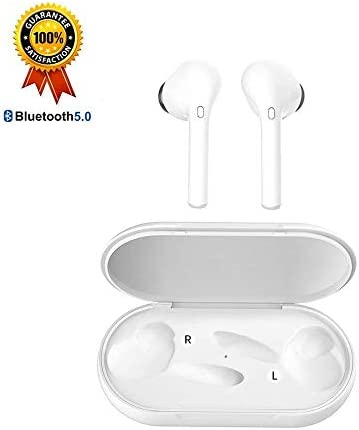 True Wireless Earbuds Bluetooth Earbuds Wireless Earbuds - Bluetooth 5.0 Mini in Ear TWS Earbuds with Charging Case,Noise Cancelling Earbuds,Earbuds with Microphone for Hands-Free Calls