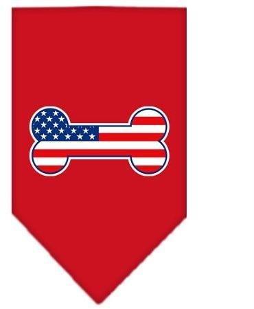 Bone Flag American Screen Print Bandana Red Large Case Pack 24 Bone Flag Amer... Amer Flag