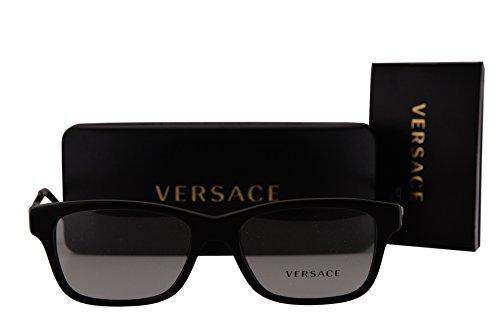 Versace VE3245 Eyeglasses 53-17-140 Black w/Clear Lens 5238 VE - Versace Sunglasses Clear
