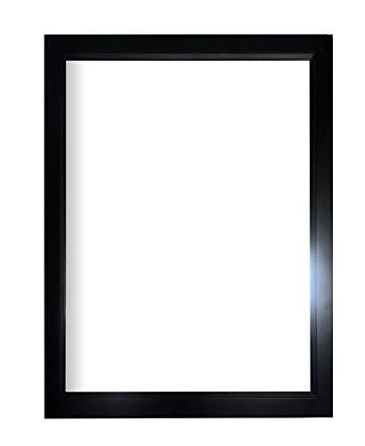 Metallic Wood Frame - Carbon Metallic solid wood Rectangle Bathroom Vanity Mirror | Wood Framed Wall Decor for Bedroom, Living Room | 4 Colors Available (27